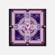 "EARTH-HEART MANDALA Square Sticker 3"" x 3"""