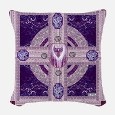 EARTH-HEART MANDALA Woven Throw Pillow