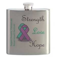 Strength Love Hope Flask