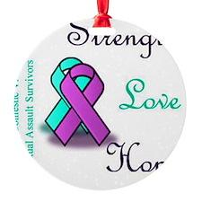 Strength Love Hope Ornament