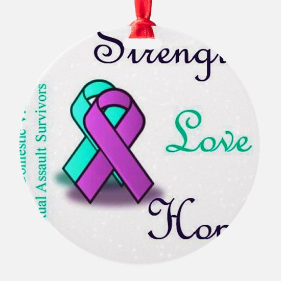 Strength Love Hope Ornament