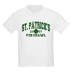 St. Pat's Pub Crawl Distressed Kids T-Shirt