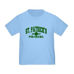 St. Pat's Pub Crawl Distressed Toddler T-Sh