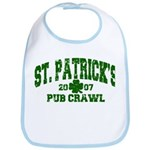 St. Pat's Pub Crawl Distressed Bib