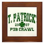 St. Pat's Pub Crawl Distressed Framed Tile