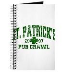 St. Pat's Pub Crawl Distressed Journal