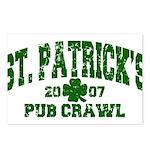 St. Pat's Pub Crawl Distressed Postcards (Package
