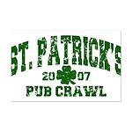 St. Pat's Pub Crawl Distressed Mini Poster Print