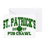 St. Pat's Pub Crawl Distressed Greeting Cards (Pac