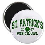 St. Pat's Pub Crawl Distressed Magnet