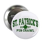 St. Pat's Pub Crawl Distressed Button