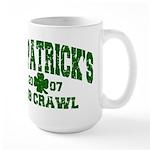 St. Pat's Pub Crawl Distressed Large Mug
