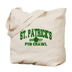 St. Pat's Pub Crawl Distressed Tote Bag