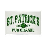 St. Pat's Pub Crawl Distressed Rectangle Magnet