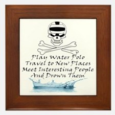 Reasons to Play Water Polo Framed Tile