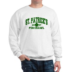 St. Pat's Pub Crawl Distressed Sweatshirt