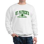 St. Pat's Pub Crawl Distressed Sweatshirt