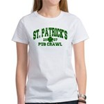 St. Pat's Pub Crawl Distressed Women's T-Shirt