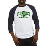 St. Pat's Pub Crawl Distressed Baseball Jersey