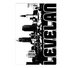 Cleveland Skyline V Postcards (Package of 8)
