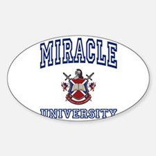 MIRACLE University Oval Decal