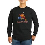 Firecracker 4th Long Sleeve Dark T-Shirt