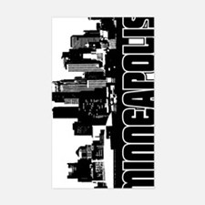 Minneapolis Skyline V Sticker (Rectangle)