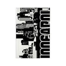 Minneapolis Skyline V Rectangle Magnet
