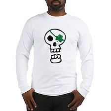 St Patricks Pirate Skull Long Sleeve T-Shirt