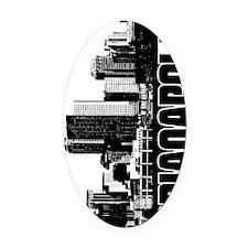 Indianapolis Skyline V Oval Car Magnet
