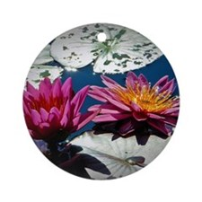 Water lilies Round Ornament