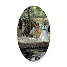 Pierre-Auguste Renoir La Grenouill Oval Car Magnet