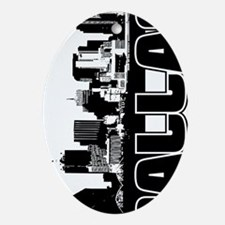 Dallas Skyline V Oval Ornament