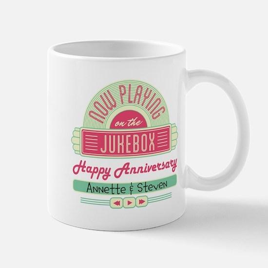 Personalized Anniversary Retro Jukebox Mug