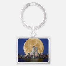 Full Moon Landscape Keychain