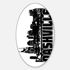 Nashville Skyline V Sticker (Oval)