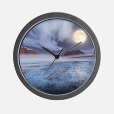 Full Moon in winter Wall Clock
