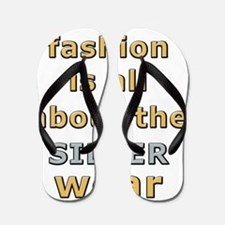 Holiday fashion sliverwear humor apron Flip Flops