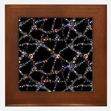 Galaxy distribution, computer artwork Framed Tile