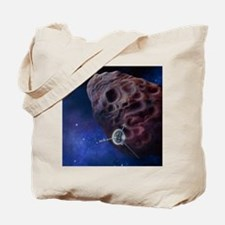 Galileo passing an asteroid Tote Bag
