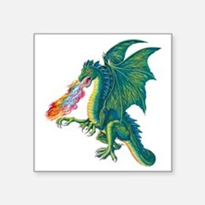 "Dragons Lair B Square Sticker 3"" x 3"""