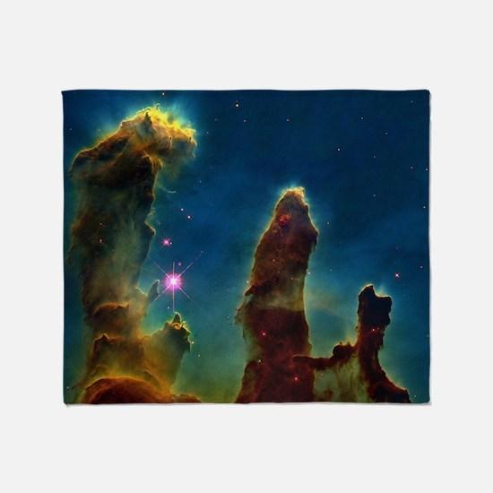 Gas pillars in the Eagle Nebula Throw Blanket