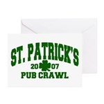 St. Patrick's Pub Crawl Greeting Cards (Package of