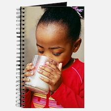 Girl drinking milk Journal