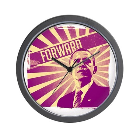 obama forward warm color way wall clock by admin cp72445178