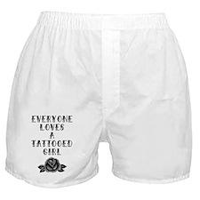 Tattooed Girl Boxer Shorts