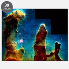 Gas pillars in Eagle Nebula Puzzle