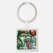 Guiding children's diets Square Keychain