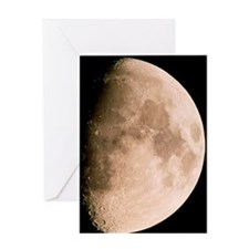 Gibbous moon in the night sky Greeting Card
