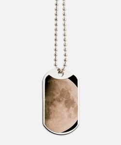 Gibbous moon in the night sky Dog Tags